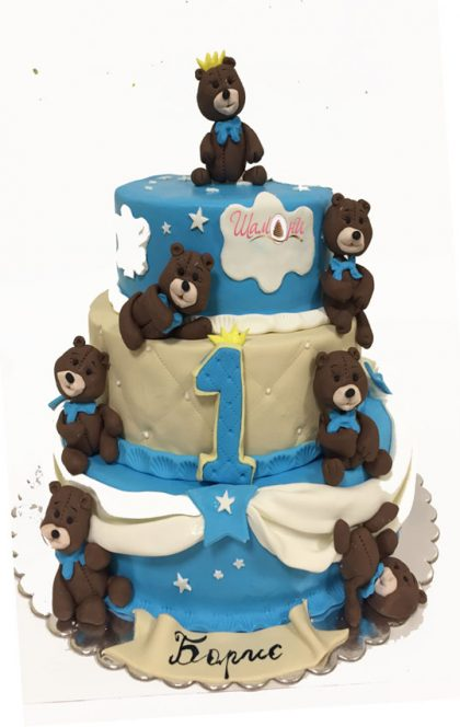 torta s mecheta торти от Шамони, детски торти за рожден ден