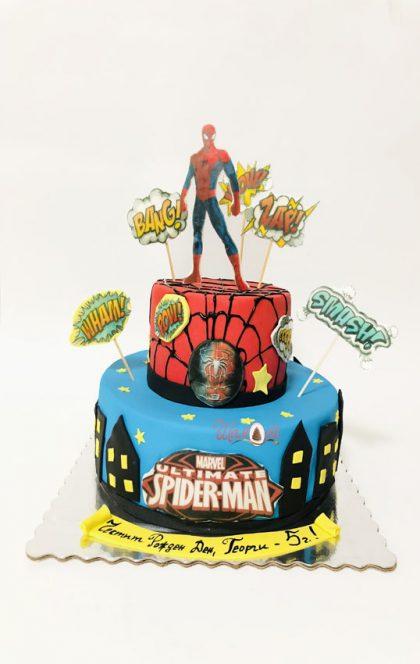 детска торта Спайдърмен на сладка къща Шамони