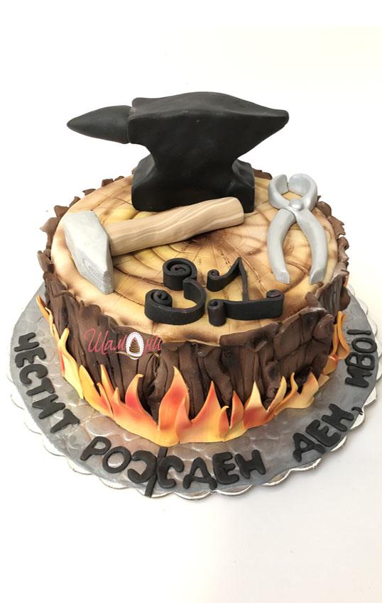 торта чук и наковалня от шамони