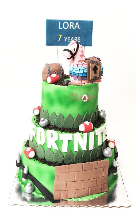 fortnite cake by Shamoni