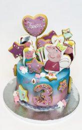 Peppa pig cake, торти пепа пиг от Шамони