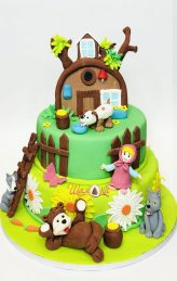 Маша и мечока торта